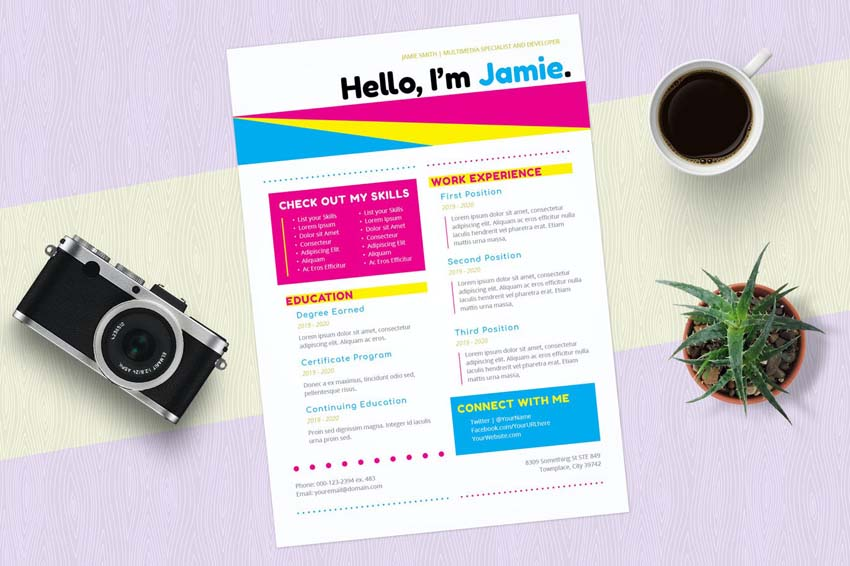 InDesign Template Resume