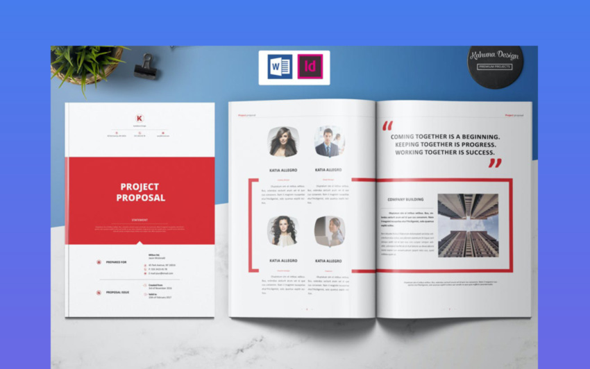 Business Project Proposal Template Design