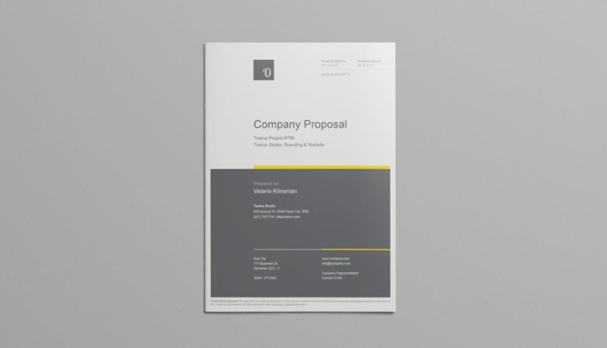 Company Proposal Template Free Download