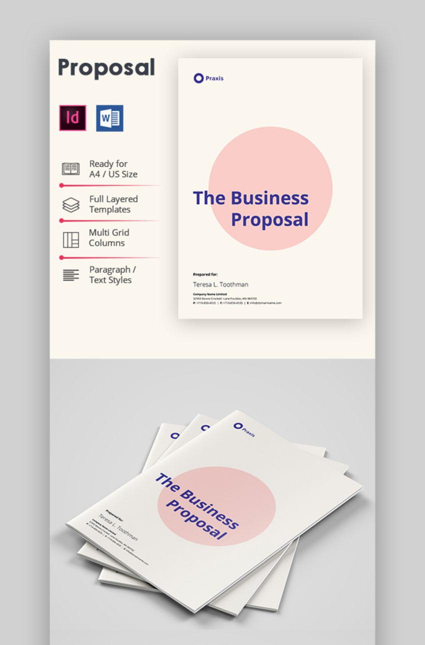 Marketing Business Proposal Template Design
