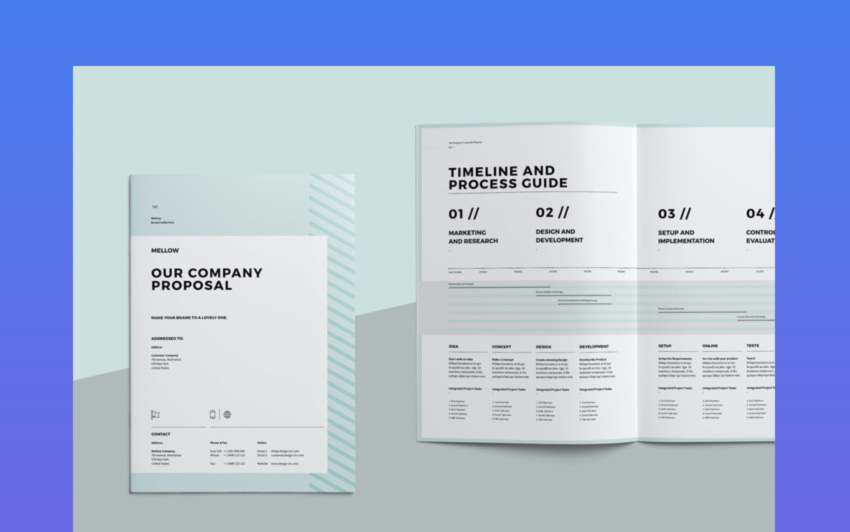 Stylish InDesign Proposal Template Design