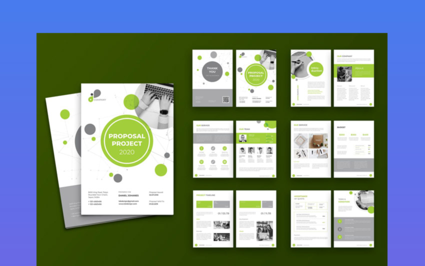 Proposal Template Design for Adobe InDesign