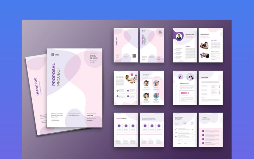 Colorful InDesign Proposal Template Design