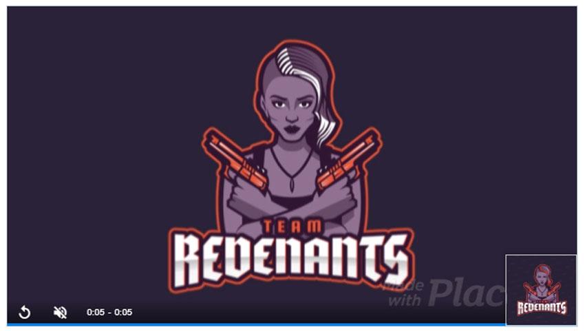 Templat Desain Logo Klan Tim FPS