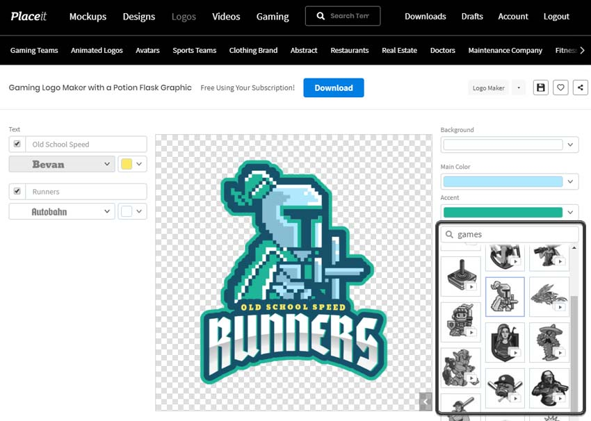 Pembuat Desain Logo Game