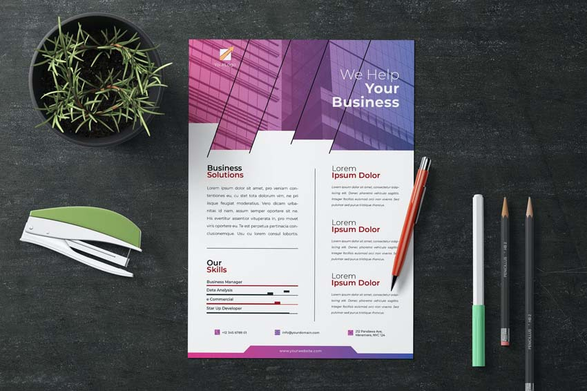 Professional Business Flyer Design Layout