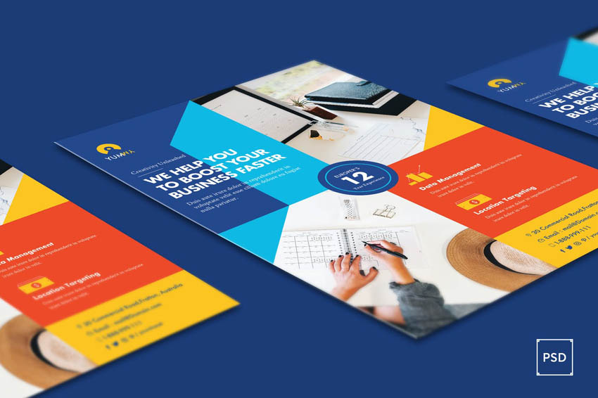 How To Make a Professional Flyer - Colorful Business Flyer