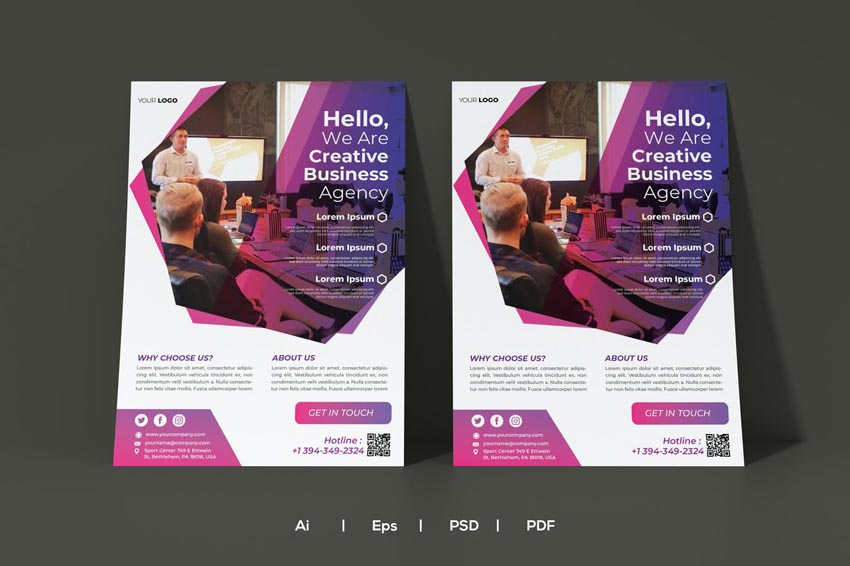 colorful photo flyer design