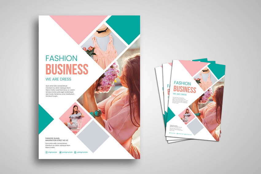 colorful flyer design template