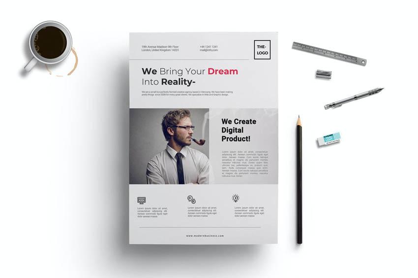 Typographic Business Flyer