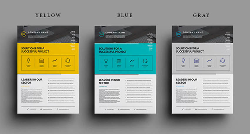 How To Make a Business Flyer - Flat Flyer Design