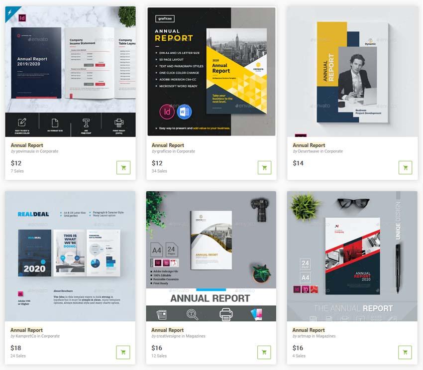 GraphicRiver Annual Report Templates