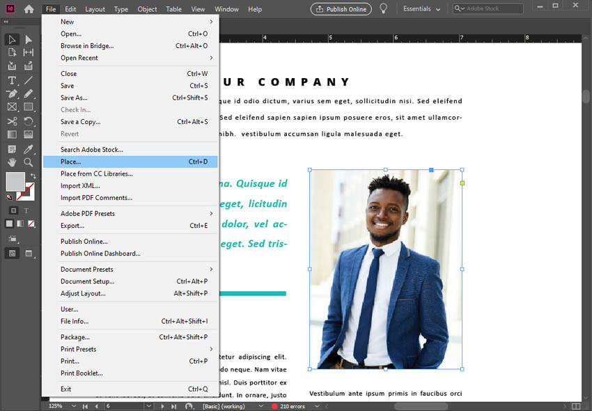 imagenes en Adobe InDesign