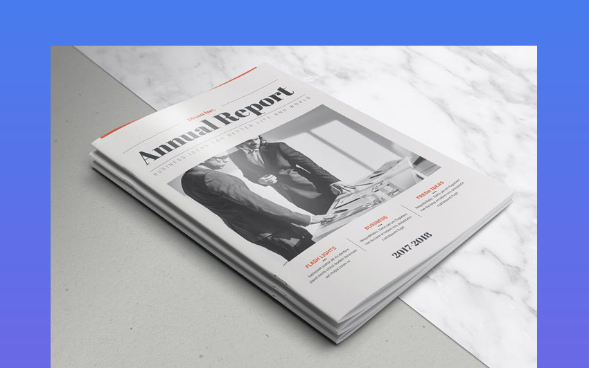 Magazine Style Annual Report Template