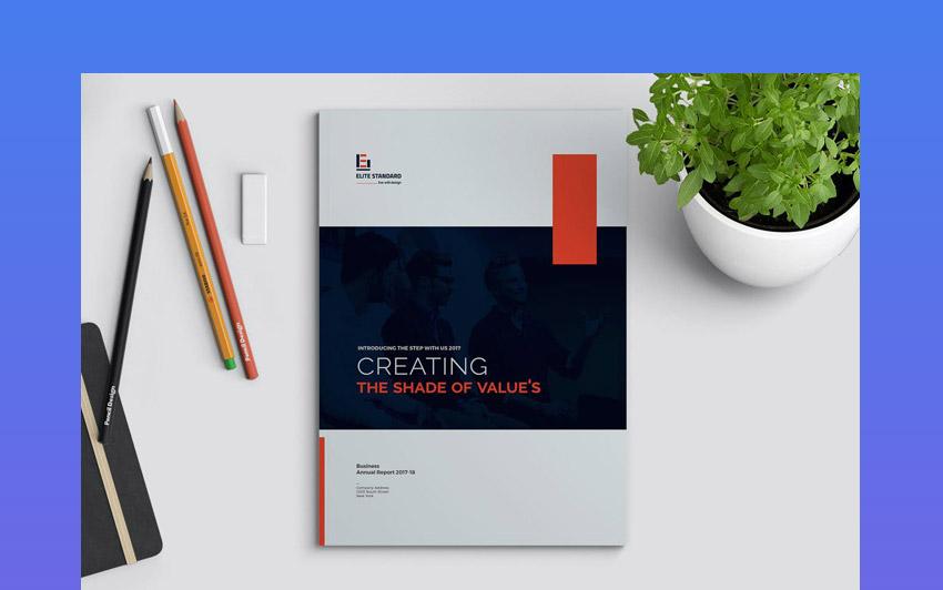 Bold Colors - Plantilla de diseo de reporte anual creativa y con colores llamativos