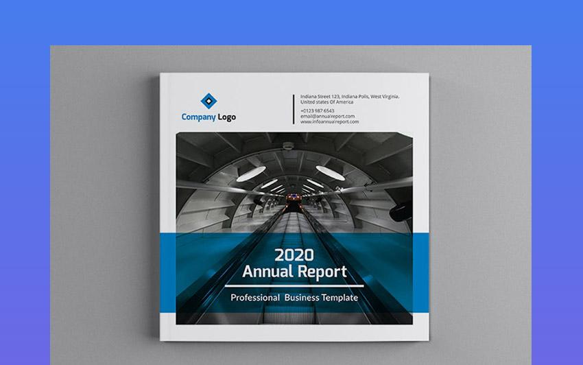 Mblandang - plantilla para folleto de reporte anual cuadrado