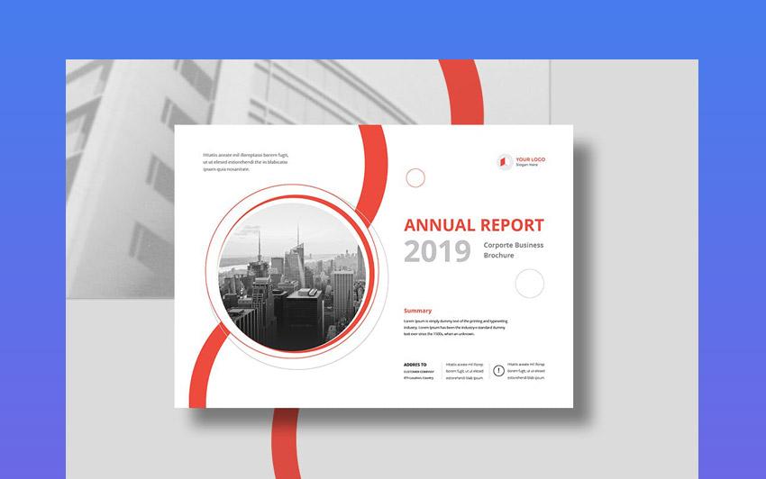 Landscape Report Template Design  Corporate Report