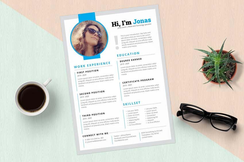 photo resume design