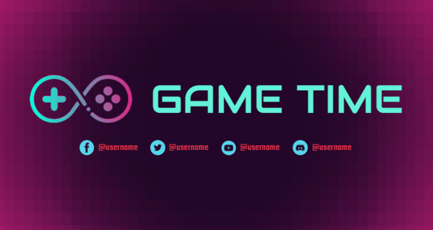 Abstract Gaming Controller Twitch Banner Maker