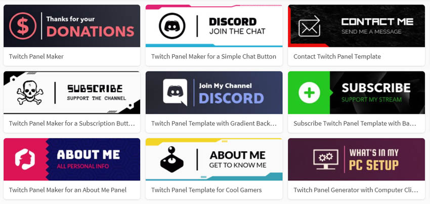 Custom Twitch Panel Maker