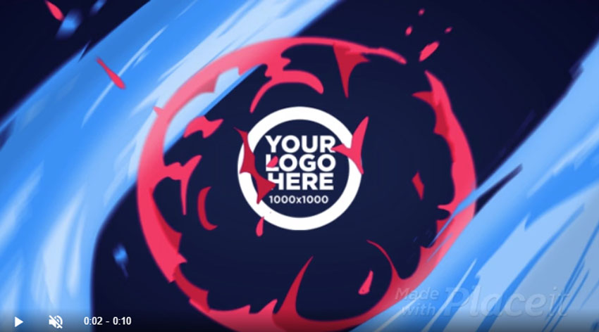 Gaming Animated Logo Reveal Anime Inspired