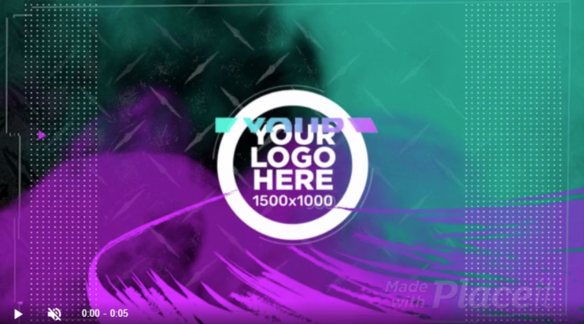 Animated Logo Video Opening Template Maker