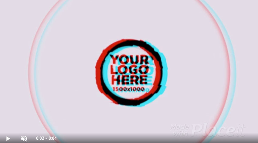 Glitch Animated Logo Maker Template