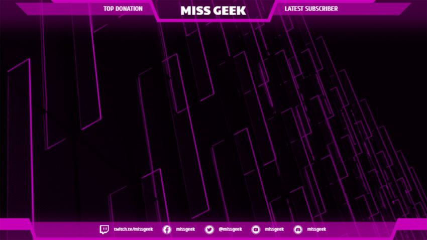 Cute OBS Stream Overlay Design Template