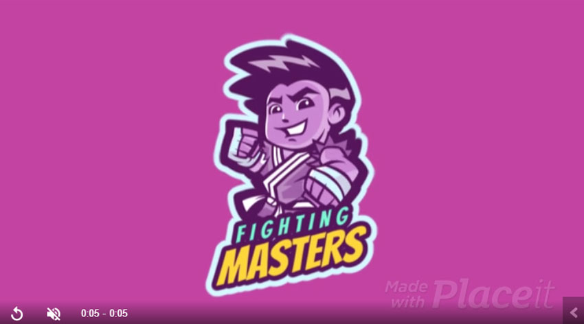 Animated Gaming Logo for Fighting Games