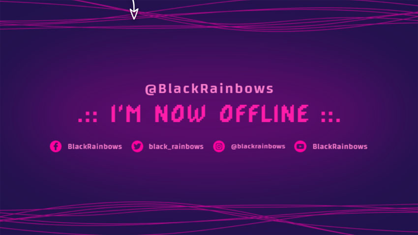Abstract Twitch Offline Banner Maker with Neon Lines