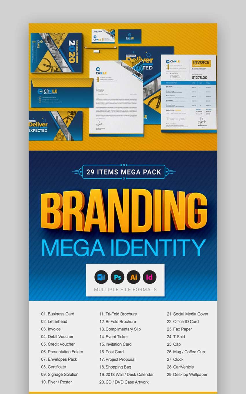 Branding Identity Mega Stationery Full Pack