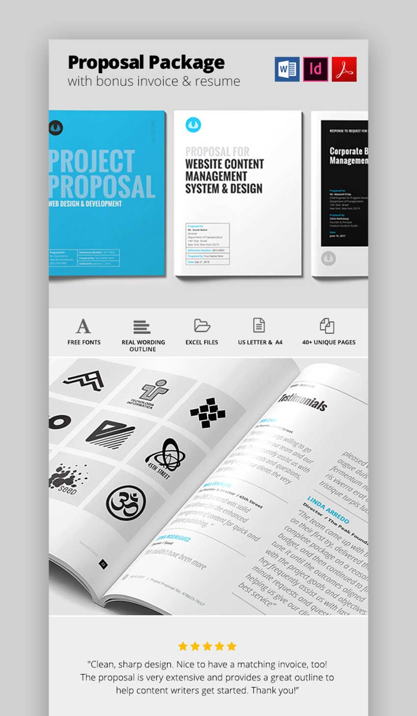 40 Best Free Premium Business Proposal Templates Doc Indd