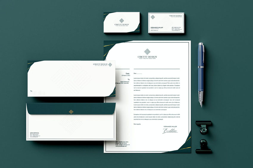 branding and stationery set