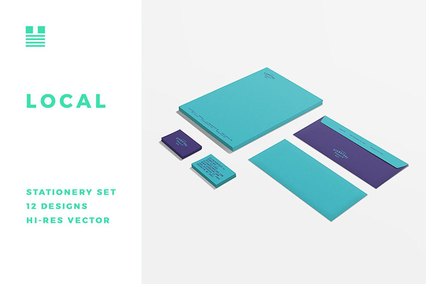 Office Stationery Design Set