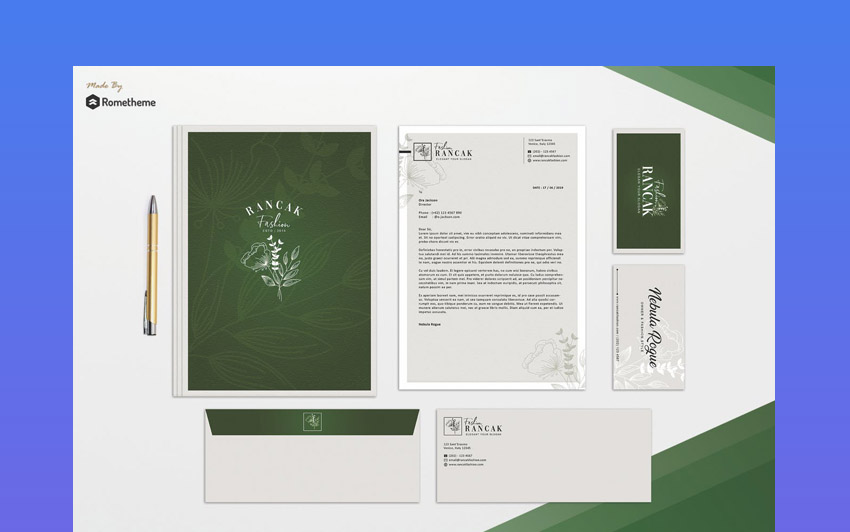 Elegant Stationery Template Design
