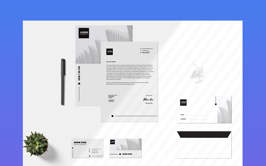 Business Stationery Design Template Set