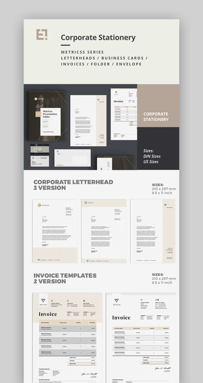Elegant Corporate Business Stationery Design Set