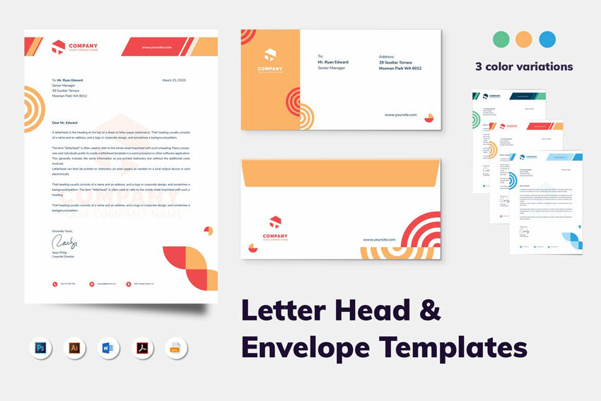 stationery template for Word