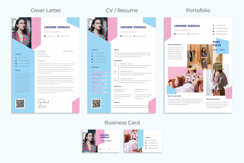 stationery set design template