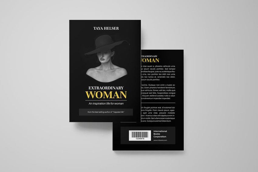 Photoshop Book Cover Design Template