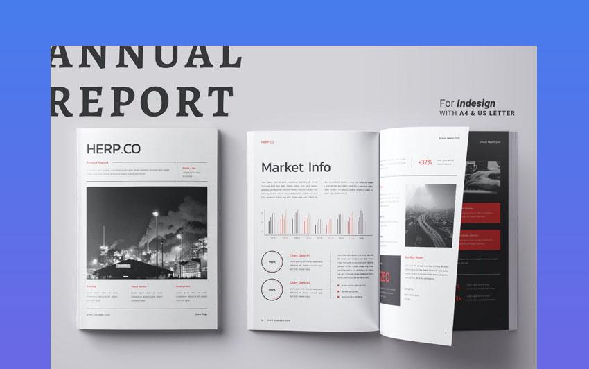 Premium InDesign Annual Report Design Template