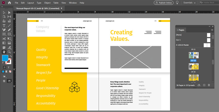 Two Page Spread InDesign