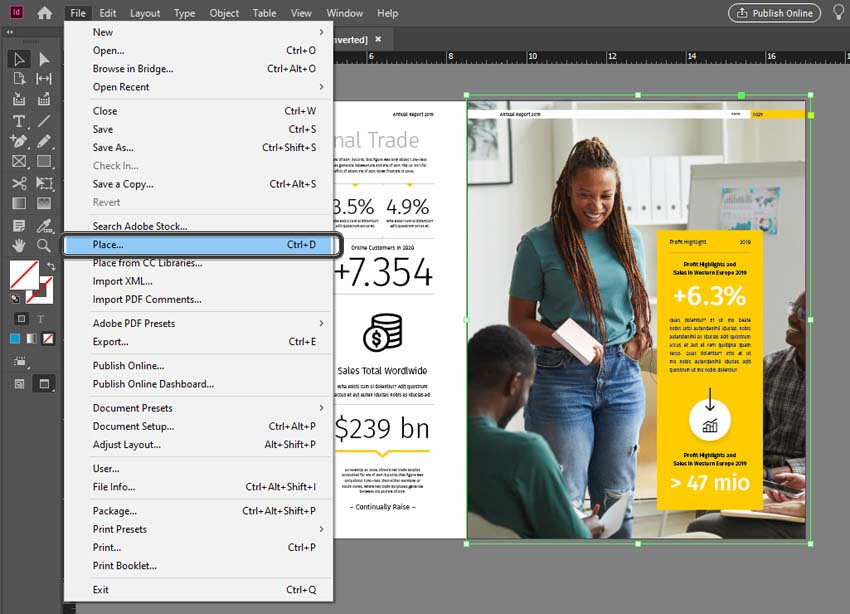 InDesign Place Images