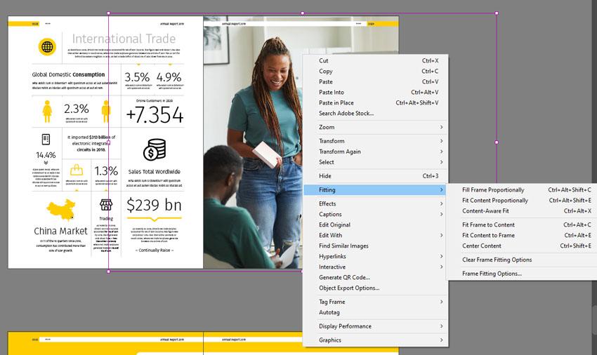 InDesign Adjust Images