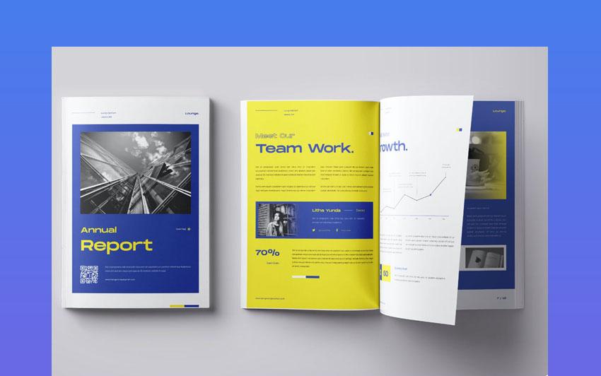 Colorful Adobe InDesign Report Design Template