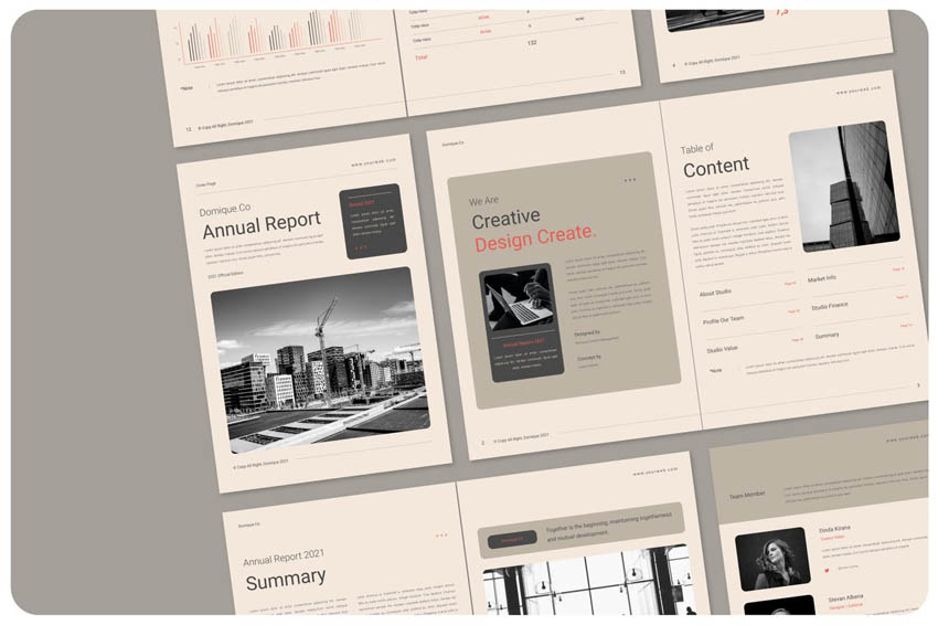 InDesign report layout designs