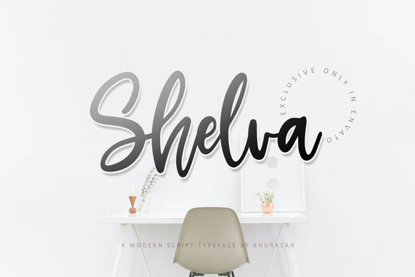 Shelva Script Font