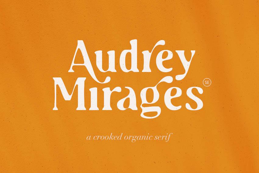 Audrey Mirages Modern Fonts Serif