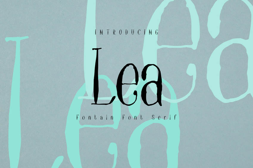 Lea Thin Modern Fonts Serif