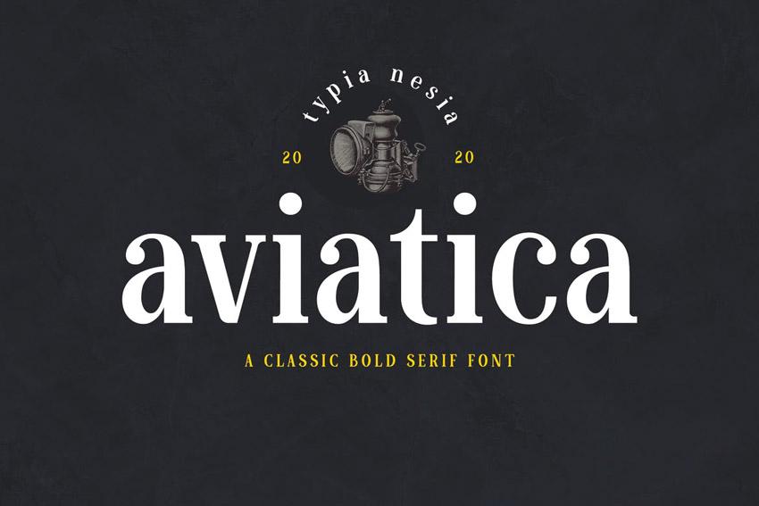 Aviatica Modern Bold Fonts